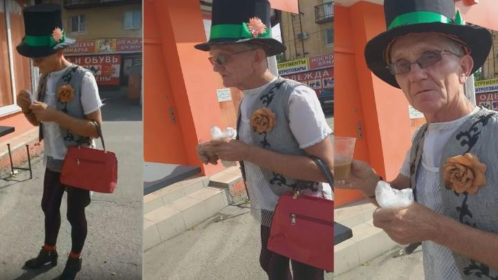 «В Волгограде я такой один»: пожилой учитель-артист в женском образе гуляет по городу