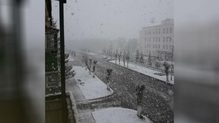 Юг Башкирии накрыло снегом