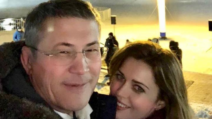 Радий Хабиров с женой встретили Крещение за пределами Башкирии