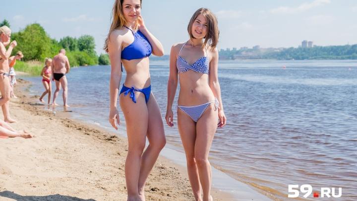 Красотки на пляже и замки из песка: как пермяки провели первые жаркие выходные лета