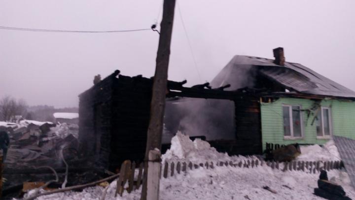 В Прикамье на пожаре погиб 57-летний мужчина