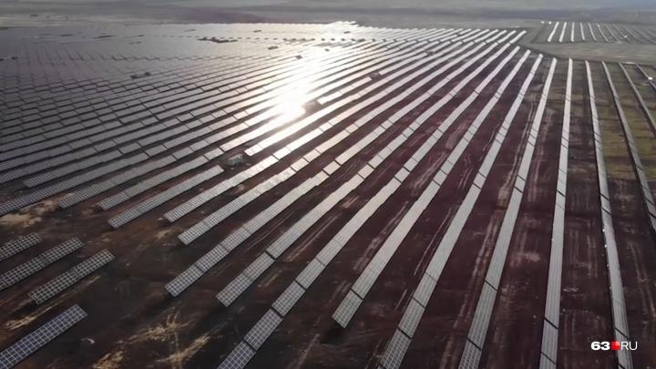 Под Самарой открыли самую крупную в ПФО солнечную электростанцию