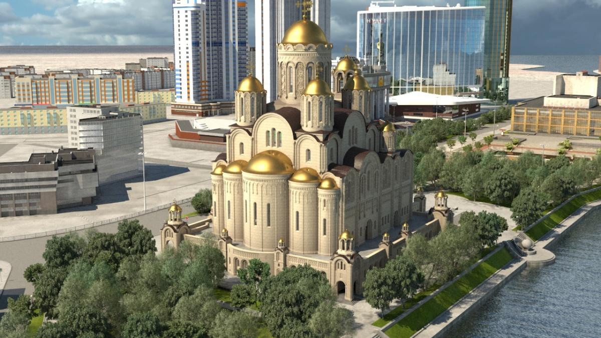Новый проект храма святой Екатерины и выбранное для него место Владимира Шахрина полностью устраивает