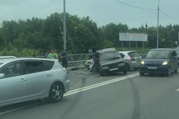 Авария произошла в районе«Вшивой горки»