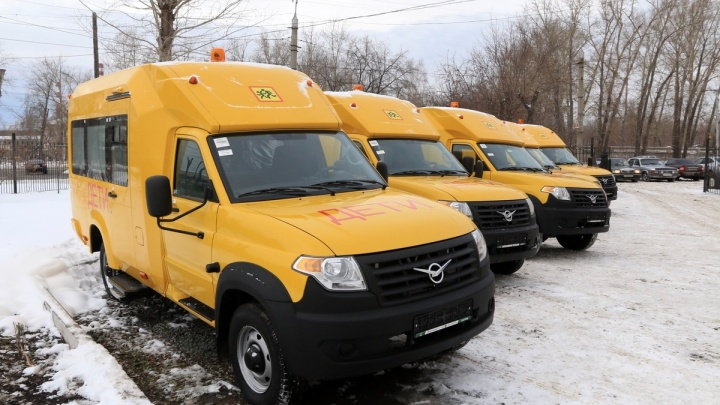 Школы Курганской области получили новые автобусы