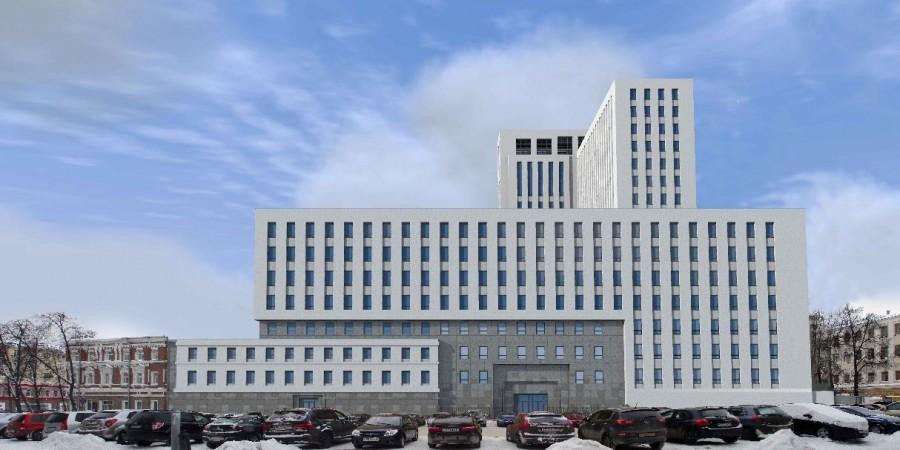 По мнению участника общественных обсуждений, это здание не вписывается в окружающую застройку