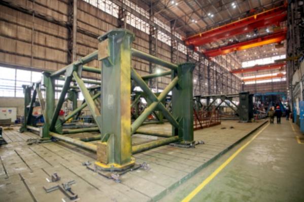 Готовый агрегат будет весить около 60 тонн