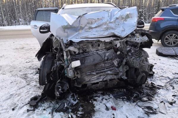 Трагедия произошла на 340-м километре трассы Тюмень — Ханты-Мансийск