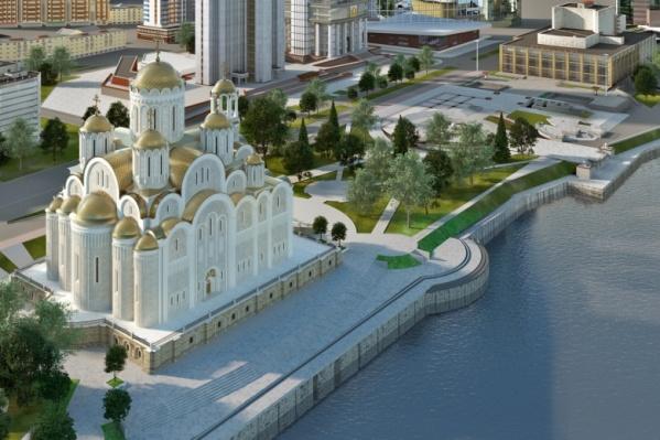 Храм в сквере у Драмы должен выглядеть так