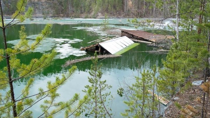 Старая Линза поплыла: лёд растаял, и карьер превратился в большой водоём