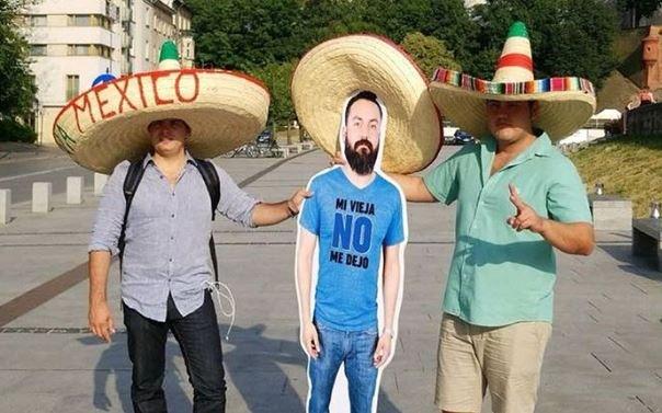 8 друзей Хавьера: в Екатеринбург едут мексиканские фанаты, которые возят с собой картонного друга