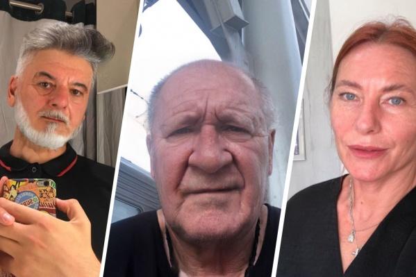Красноярцы состаривают себя на фотографии при помощи приложения FaceApp