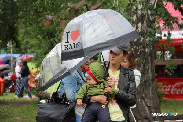 Июль в Омской области оказался дождливым —на предстоящей неделе снова будет гроза