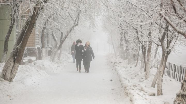 Лютые морозы идут в Красноярск