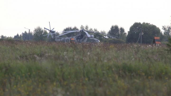 «Думали, машина перевернулась»: сельчане рассказали о падении Ми-8 на аэродроме под Челябинском