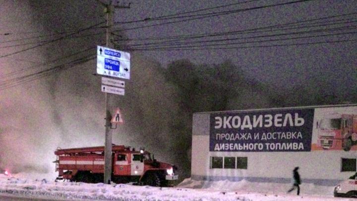 «Основная версия — поджог»: в Челябинске повторно погорела автомойка на Копейском шоссе