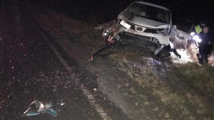 ВодительToyota RAV4 устроил смертельное ДТП на тюменской трассе во время обгона