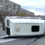 В Челябинской области перевернулась маршрутка с восемью пассажирами
