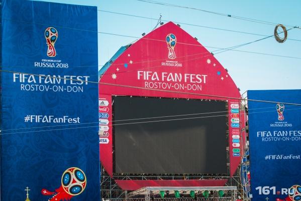 Большой экран переедет с Театральной площади на новый стадион