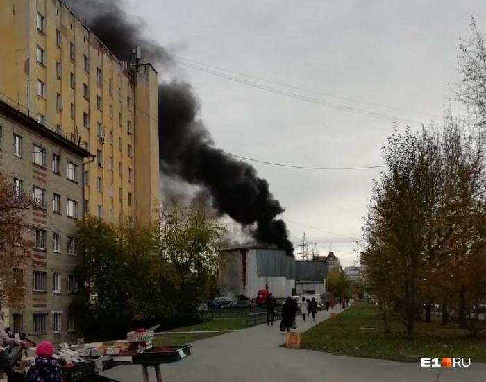 Площадь пожара — 50 квадратных метров
