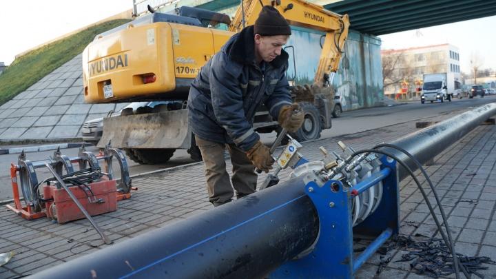 Специалисты «Ярославльводоканала» проводят работы по замене дюкера через Волгу