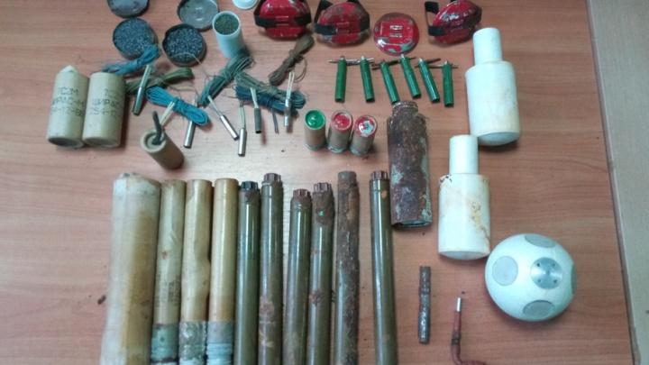 Уфимец обнаружил на чердаке бани склад боеприпасов
