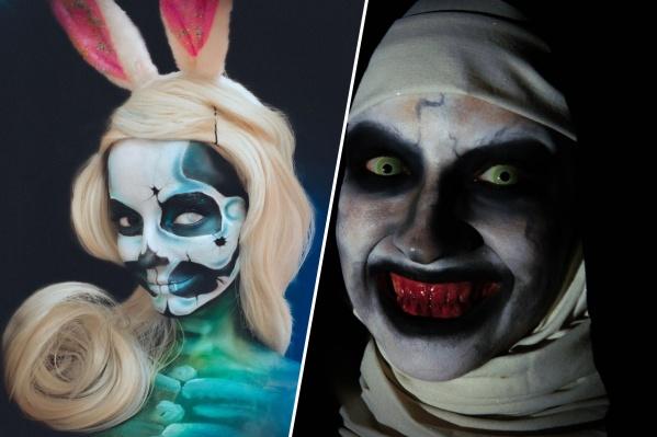 Девушки хвастаются страшным макияжем