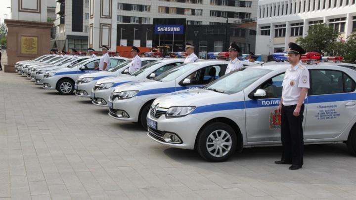 Полиция Красноярска получила сразу 50 новых машин с регистраторами