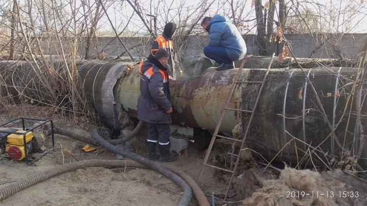 В Волгограде ликвидировали порыв на теплотрассе