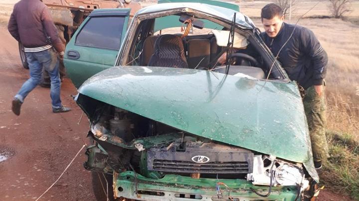 Опрокинул машину в кювет: в Башкирии водитель не справился с управлением и улетел с дороги
