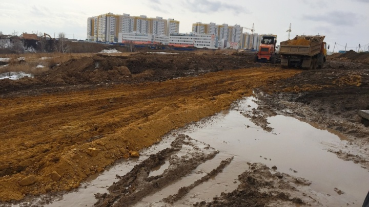 На улице Ерофеевской в «Солнечном» начали строить дорогу