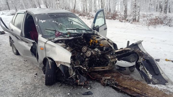 Врезался в дерево: автомобиль с жителями Челябинской области попал в ДТП на трассе в Башкирии
