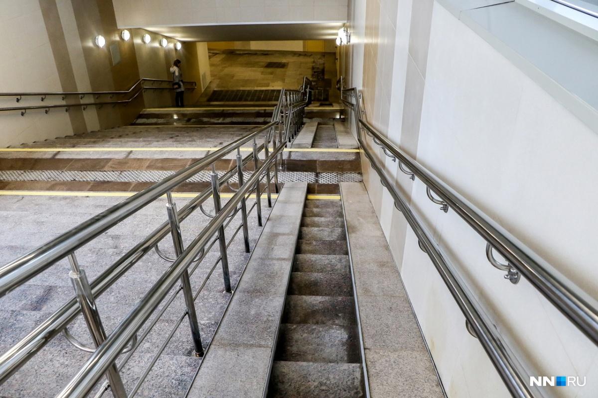 Не вся нижегородская подземка может похвастаться оборудованием для колясочников