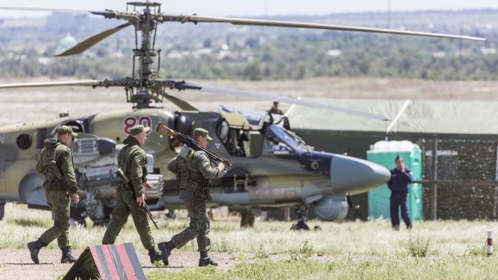 Под Волгоградом группы штурмовиков десантировались с боевых вертолетов