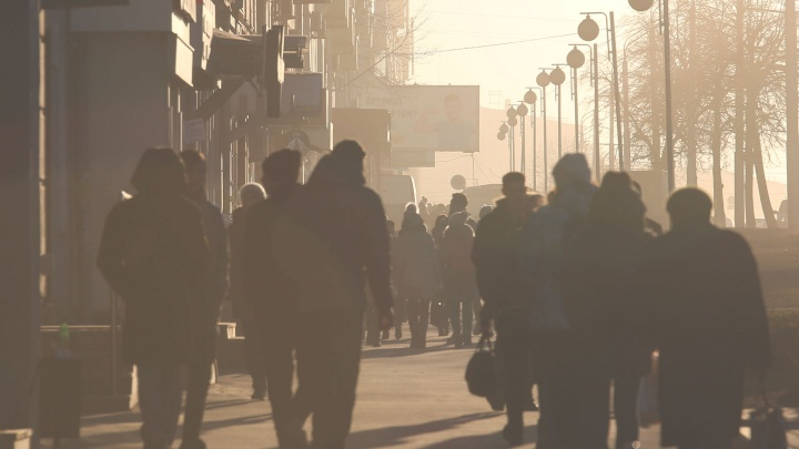 Пыльная столица России: Уфа скрылась в облаке песчаной бури