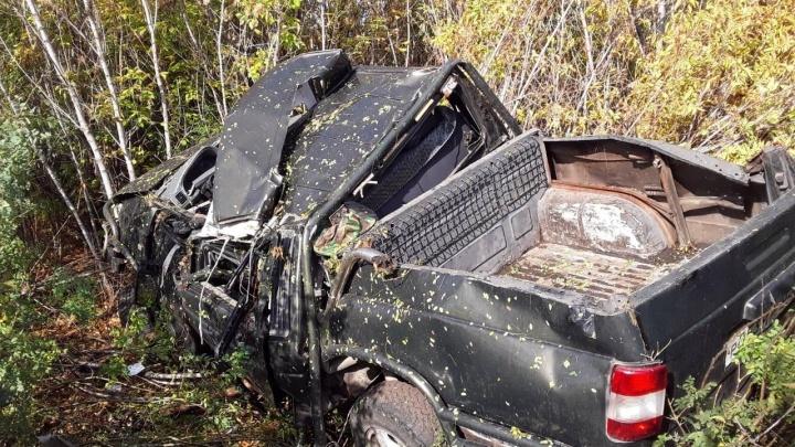 Смертельный обгон: в Башкирии УАЗ улетел в кювет, водитель погиб
