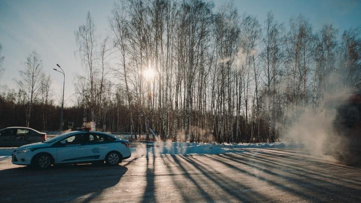 Из-за 30-градусных морозов тюменцев просят не ездить за город