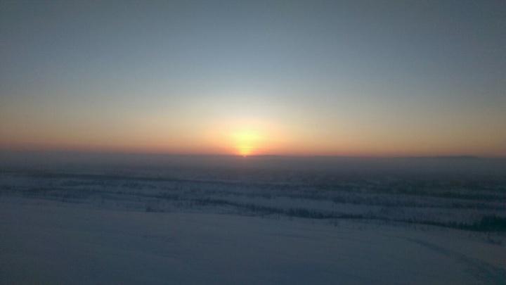 Жители Норильска увидели солнце впервые за 45 дней