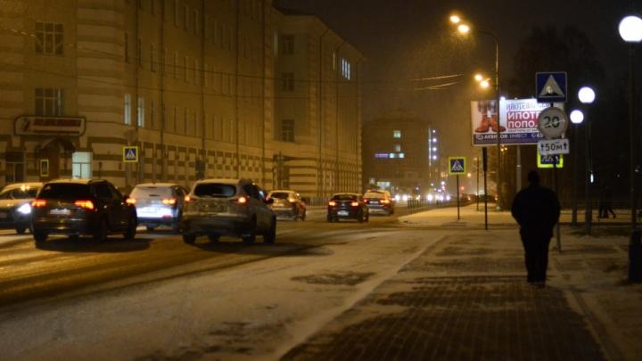 57 ДТП за сутки: из-за вечернего снегопада число столкновений на дорогах Поморья резко увеличилось