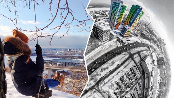 Лучшие фото этой недели: качели с видом на Нижний Новгород и немного красок среди серых домов