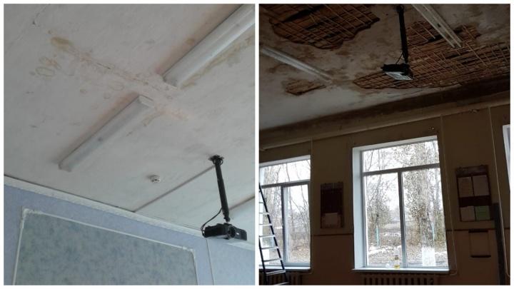 «Туда нельзя пускать детей»: потолки в одной из школ Азовского района грозят рухнуть на учеников