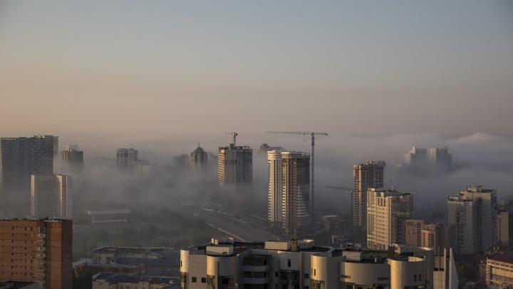 Новосибирск окутал живописный густой туман