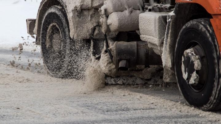 Солёный асфальт: в Архангельске дорожники поставили эксперимент с реагентом