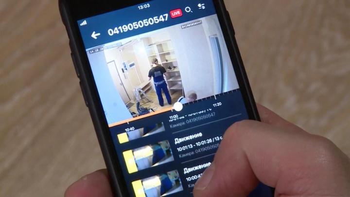 Екатеринбуржец с помощью видеокамер организовал ремонт дома