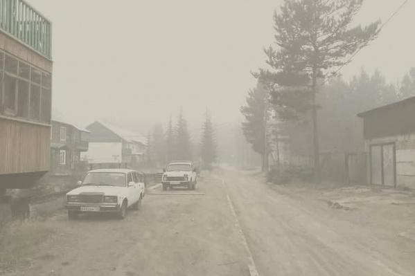 Ванавара находится рядом с лесными пожарами. Там даже нет и намека на чистое небо