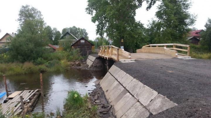 Мост через реку Долгая Щель в Маймаксе, переживший лишь одну зиму, вновь капитально отремонтировали