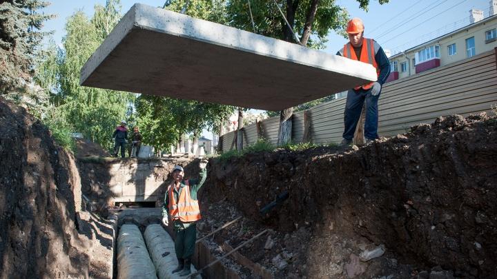Десять домов и два детских сада в Уфе остались без горячей воды из-за прорыва трубы