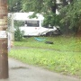 От удара выбросило на обочину: в Челябинске столкнулись легковушка и микроавтобус