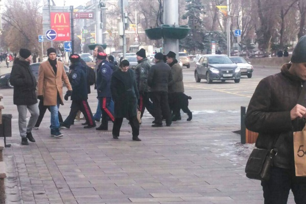 В задержании участвовали не только полицейские, но и казаки