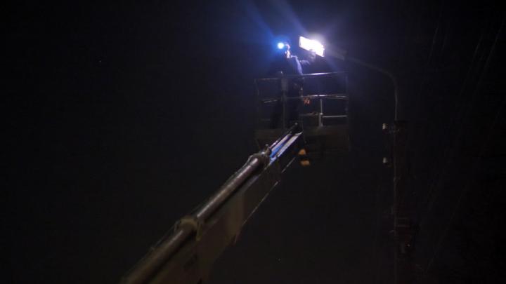 Мэрия: за последние две недели в Ярославле заменили почти две сотни ламп в фонарях